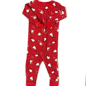 3/$25 Old Navy Baby Thermal Snowman Sleeper
